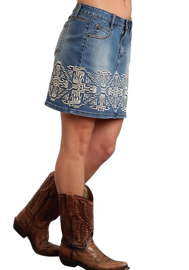 western denim skirts redskirtz